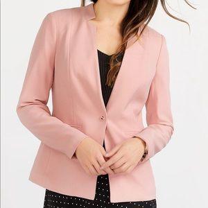 Reitmans Mandarin Collar Baby Pink Women Blazer